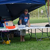 Event organizer Pat Moriarty watches the action during the Wifflin' For Wishes tournament at McLaughlin Field in Leominster on Saturday morning.  Proceeds from the event are to be donated to the Make-A-Wish Foundation. SENTINEL & ENTERPRISE / Ashley Green