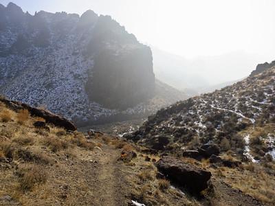 Descending into Wilson Creek canyon.
