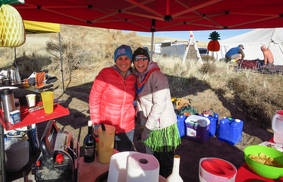 Elsa and Beth serve up soup and good cheer at Paradise AS.