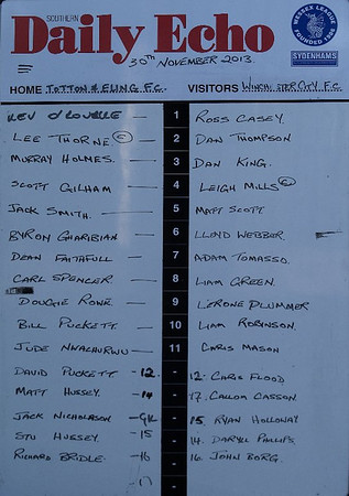 Totton & Eling (0) v Winchester City (4) 30.12.2013
