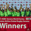 South Africa are winners of the Dubai IRB Sevens World Series rugby tournament after  beating Australia 33-7 in the Cup Final  at the Emirates Airline Dubai Rugby Sevens in Dubai, UAE, on Saturday, Dec. 6th, 2014. Photo by: Stephen Hindley/Sportdxb/Photosport