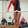 Aaron Kirchoff/Rushville Republican<br /> Rushville's Katie Egielske finished first in the all-around Tuesday as the Lady Lions took on Morristown. She posted a career high 29.925.