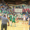 Northridge senior Alex Stauffer (50) drains a long 3-pointer during the<br /> third quarter of the championship game against Warsaw Saturday night.