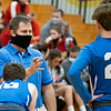 Bethany Christian Bruins head coach Daniel Mast communicates with his players during Tuesday's game at Westview Junior-Sr. High School in Topeka.