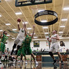 JAY YOUNG | THE GOSHEN NEWS<br /> Wawasee junior Trevon Coleman (40) shoots over Tippecanoe Valley sophomore Alex Salas-Morrison (30) during the quarterfinals of the 3A sectional Tuesday night at Wawasee High School in Syracuse.