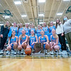 Lakeland  Lakers girls basketball team pose for a photo with the IHSAA 2021 Class 3A Girls Basketball Sectional Championship trophy after Saturday's game at Wawasee High School in Syracuse.