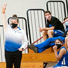 Bethany Christian Bruins head coach Krysten Parson communicates with her players during Tuesday's game at Westview Junior-Sr. High School in Topeka.