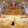 An interior view of the Westview Junior-Sr. High School gym during Tuesday's game at Westview Junior-Sr. High School in Topeka. Seating was set to only parents due to COVID-19 restrictions.