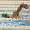 Concord sophomore Tommy Brunner competes in the 500-yard freestyle race during the NLC championship finals Saturday at Northridge High School in Middlebury. Brunner was a key figure in Concord winning the NLC for the third-straight season.