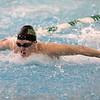 Northridge junior Tristin Bratt wins the 200-yard individual medley race during the NLC championship finals Saturday at Northridge High School in Middlebury.