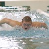 Wawasee sophomore Nate Kryder wins the 100 butterly event during the NLC championship finals Saturday at Northridge.