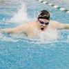 SAM HOUSEHOLDER | THE GOSHEN NEWS<br /> NorthWood senior Nolan McBridge swims the 200 yard individual medley Thursday.