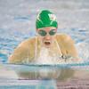 SAM HOUSEHOLDER | THE GOSHEN NEWS<br /> Concord swimmer Reegan Stauffer swims the 100 yard breaststroke Thursday against Mishawaka.