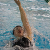 SAM HOUSEHOLDER   THE GOSHEN NEWS<br /> NorthWood junior Jamie McBride swims the 200 meter individual medley during the Northern Lakes Conference preliminaires at Concord High School Thursday.