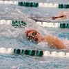 SAM HOUSEHOLDER | THE GOSHEN NEWS<br /> Goshen swimmer Gale Immel swims during the girls 500 yard freestyle event Tuesday against Northridge.