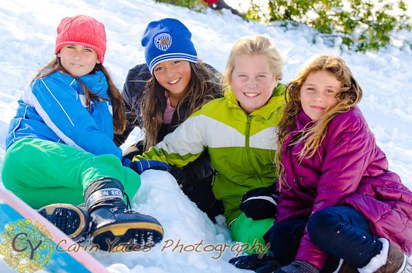 Winter sports sledding