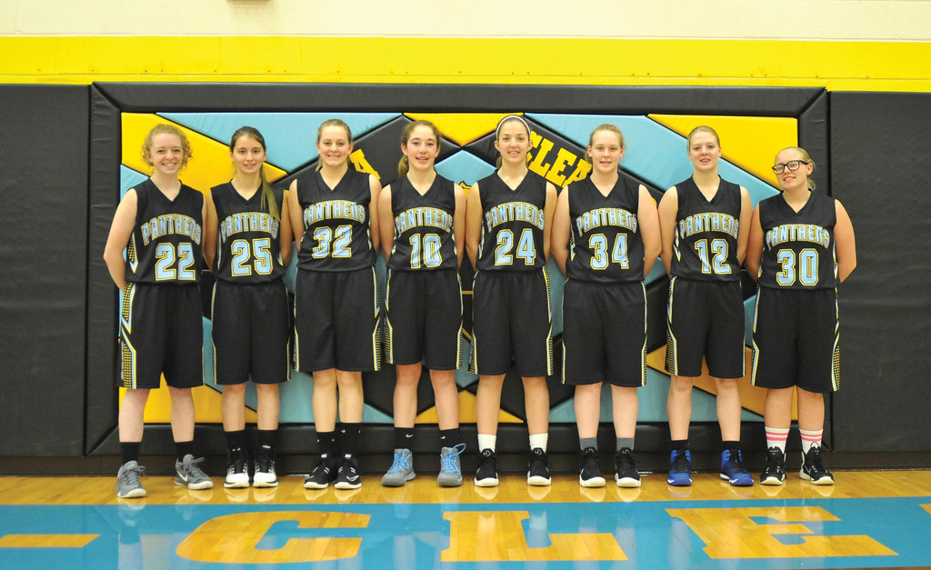 Bud Denega | The Sheridan Press<br /> From left: Kristen Klaahsen, Taziree Smith, Charlynn Mercer, Ashlynn Fennema, McKenna Auzqui, Kerri Malli, Krista Malli, Kailei Beam and Shaylee Adamson