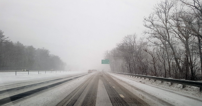 Rt 3 Northbound at the Concord Road exit in Billerica. (SUN/Julia Malakie