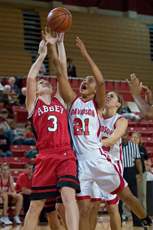 davidson college versus belmont abbey women's basketball ncaa sports photos