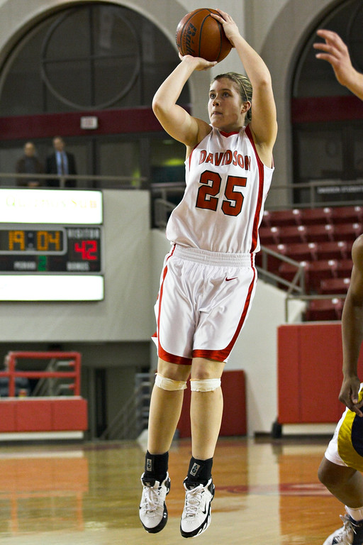 davidson college versus chattanooga women's basketball ncaa sports photos