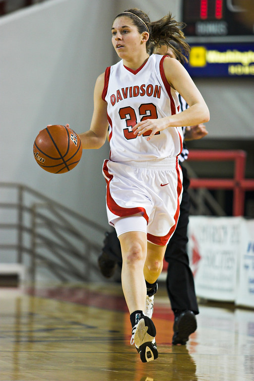 davidson college versus elon university women's basketball ncaa sports photos