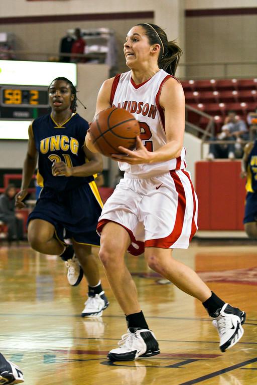 davidson college versus unc-g women's basketball ncaa sports photos
