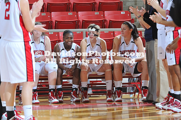 RADFORD, VA - Appalachian State defeats Davidson 68-59 in SoCon women's basketball action held at Belk Arena in Davidson, North Carolina.  Mandatory Credit: Tim Cowie - DavidsonPhotos.com