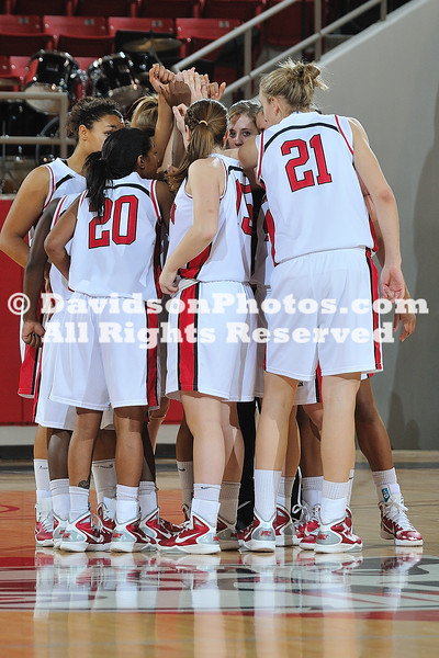 03 January 2011:  Davidson defeats College of Charleston 69-40 in SoCon basketball action at Belk Arena in Davidson, North Carolina.