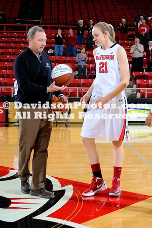 04 January 2012:  The Elon University women's basketball team concluded a six-game road swing on Wednesday night, when the Phoenix fell 75-66 in a Southern Conference matchup with the Davidson Wildcats at Belk Arena in Davidson, North Carolina.