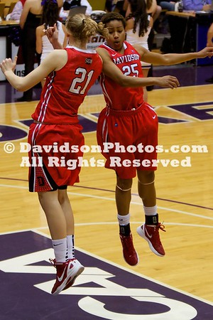 15 March 2012:  Junior Sophia Aleksandravicius (Pound Ridge, N.Y.) scored a season-best 25 points and Davidson forced 22 turnovers, but was unable to overcome a 19-7 second-half run by James Madison in falling 64-49 in the first round of the Women's NIT on Thursday evening at the JMU Convocation Center in Harrisonburg, Virginia.