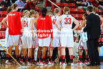 01 December 2011:   Three Wildcats came off the bench to score in double digits, led by Shneeka Center's team-best 14 points, and the bench in all scored 42 points in helping Davidson roll to an 80-65 home win over Big South-foe Winthrop in women's basketball action on Thursday evening at Belk Arena in Davidson, North Carolina.