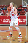 DAVIDSON, NC - Davidson defeats Samford 78-77 (OT) in SoCon women's basketball action held at Belk Arena in Davidson, North Carolina.