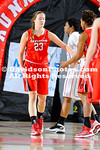 13 December 2012:   Laura Murray (Harrisburg, Pa.) canned four of Davidson's season-best 10 three-pointers on her way to a game-high 15 points, Sophia Aleksandravicius (Pound Ridge, N.Y.) set the program's all-time rebounding mark and the Wildcats held off a late charge by Gardner-Webb in holding on for a 59-56 win Thursday evening at Paul Porter Arena in Boiling Springs, North Carolina.