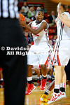 23 January 2013:  The UNCG women's basketball team fell behind midway through the first half Wednesday night and could not recover, falling 88-48 to Davidson in a Southern Conference contest at Belk Arena in Davidson, North Carolina.