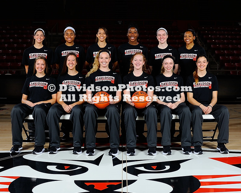 NCAA WOMENS BASKETBALL:  OCT 09 Davidson Team Photos