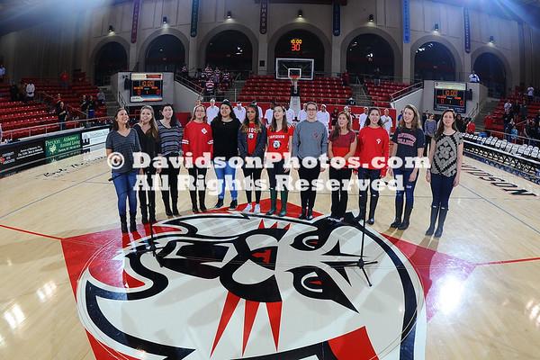 NCAA WOMENS BASKETBALL:  FEB 03 George Mason at Davidson