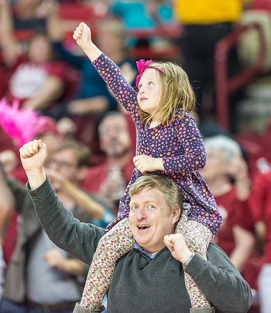 Fans call the hogs during a basketball game between Arkansas and Alabama on 2-18-16.   (Alan Jamison, Nate Allen Sports Service)