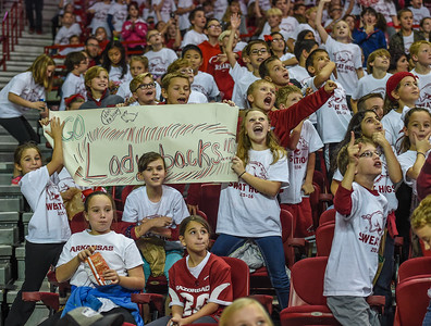 Elementary school day during a basketball game between Arkansas and Southeastern Louisiana on November 13, 2015.    (Alan Jamison, Nate Allen Sports Service)