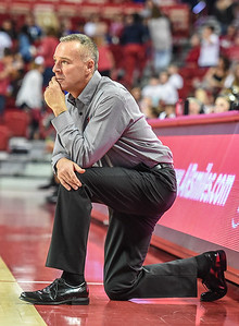 Arkansas Head Coach Jimmy Dykes on the sideline during a basketball game between Arkansas and Southeastern Louisiana on November 13, 2015.    (Alan Jamison, Nate Allen Sports Service)