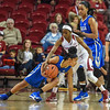 Arkansas Lady Razorbacks guard Jordan Danberry (24) attempts to steal the ball during a basketball game between Arkansas and Tulsa on November 23, 2015.    (Alan Jamison, Nate Allen Sports Service)