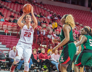 Arkansas Lady Razorbacks guard/forward Bailey Zimmerman (22) with a layup during a basketball game between Arkansas and Mississippi Valley State on December 28, 2015.    (Alan Jamison, Nate Allen Sports Service)