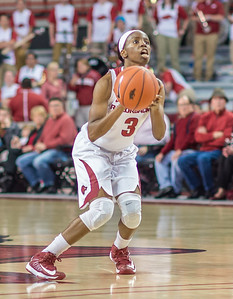 Arkansas Lady Razorbacks guard Malica Monk (3) looks to shoot during a basketball game between Arkansas and Texas A&M on January 7, 2016.    (Alan Jamison, Nate Allen Sports Service)