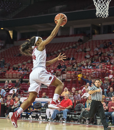 Arkansas Lady Razorbacks guard Jordan Danberry (24) shoots a layup during a basketball game between Arkansas and Tennessee on January 14, 2016.    (Alan Jamison, Nate Allen Sports Service)