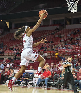 Arkansas Lady Razorbacks guard Jordan Danberry (24) shoots a layup during a basketball game between Arkansas and Tennessee on January 14, 2016.    (Alan Jamison, Nate Allen Sports Service)