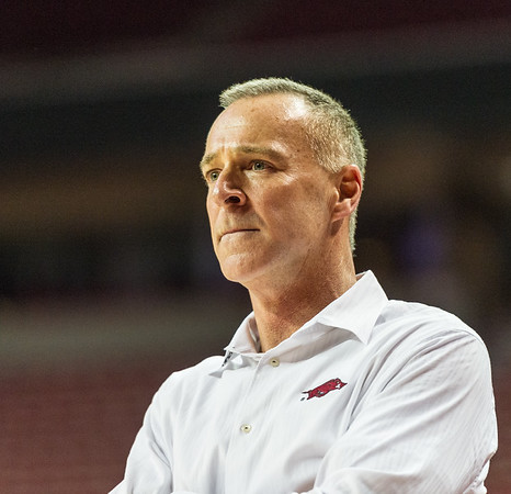 Arkansas Lady Razorbacks head coach Jimmy Dykes during a basketball game between Arkansas Lady Razorbacks and Mississippi State Lady Bulldogs  on January 31, 2016.    (Alan Jamison, Nate Allen Sports Service)