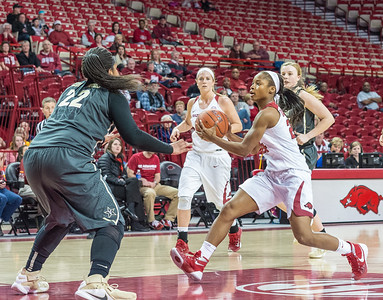 Arkansas Lady Razorbacks guard Jordan Danberry (24) drives to the basket during a basketball game between Arkansas Razorbacks and Vanderbilt Commodores on February 8, 2016.    (Alan Jamison, Nate Allen Sports Service)