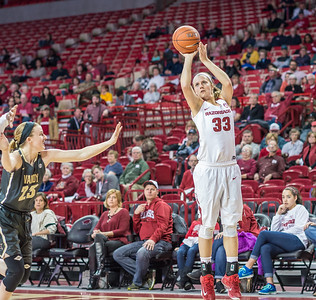 Arkansas Lady Razorbacks forward Melissa Wolff (33) shoots during a basketball game between Arkansas Razorbacks and Vanderbilt Commodores on February 8, 2016.    (Alan Jamison, Nate Allen Sports Service)