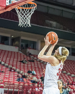 Arkansas Lady Razorbacks forward Melissa Wolff (33) during a basketball game between Arkansas Razorbacks and Vanderbilt Commodores on February 8, 2016.    (Alan Jamison, Nate Allen Sports Service)