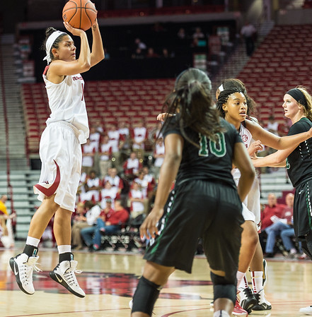 Arkansas Lady Razorbacks guard Jailyn Mason (14) shoots during a basketball game between Arkansas and Oklahoma Baptist University on Thursday, November 3, 2016.  (Alan Jamison, Nate Allen Sports Service)