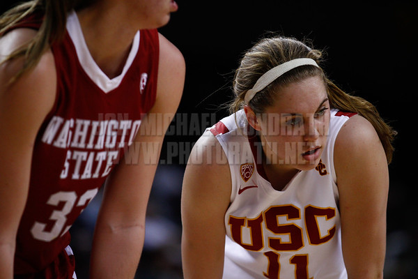 Pac-10 Tournament Round 1 - Cassie Harberts leads USC with 31 points to a victory over WSU (78-66)<br /> WBKvWSU_Pac10T_030911_Kondrath_0688